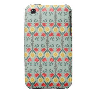 Fair isle fairisle floral retro hipster pattern iPhone 3 case