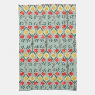Fair isle fairisle floral retro hipster pattern kitchen towels