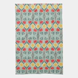 Fair isle fairisle floral retro hipster pattern tea towel