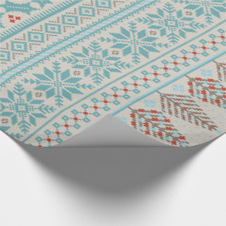 fair isle knit sweater wrapping paper