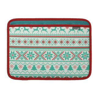 """Fair Isle Pattern"" Merry Christmas Sleeve For MacBook Air"