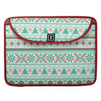 """Fair Isle Pattern"" Merry Christmas Sleeve For MacBook Pro"