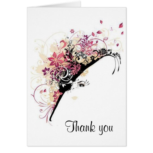 Fair Lady Bridal Shower Thank you Note Cards