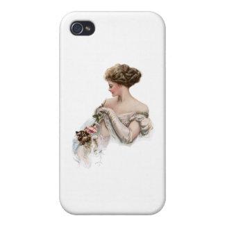 Fair Maiden Teases a Kitten iPhone 4/4S Case