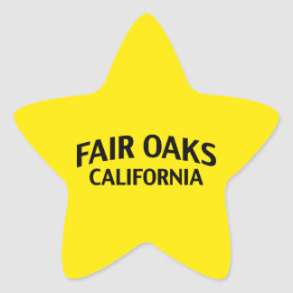 Fair Oaks California Star Sticker