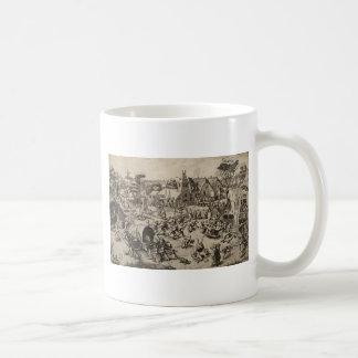 Fair of Saint Georges Day by Pieter Bruegel Basic White Mug