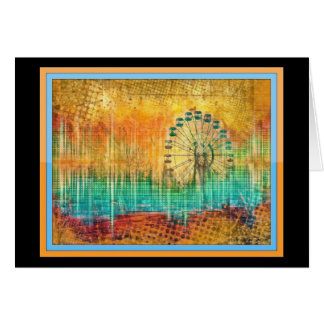 Fair Summer Ferris Wheel Abstract Colorful Card
