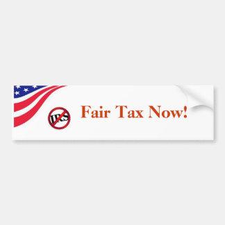 Fair Tax Now! Bumper Sticker