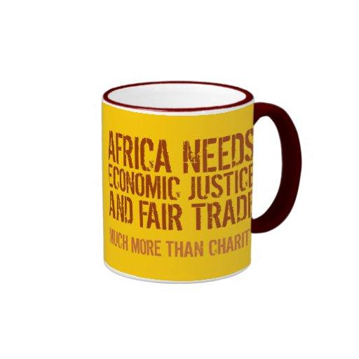 Fair Trade slogan on Mug for Activists