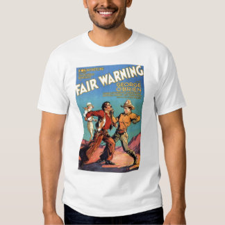 'Fair Warning' 1931 vintage movie poster T-shirt