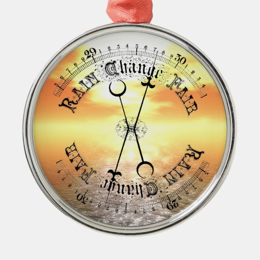 Fair Weather Barometer Sunset Christmas Pendant Christmas Tree Ornaments