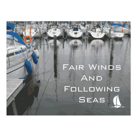 Fair Winds and Following Seas Phrase of Good