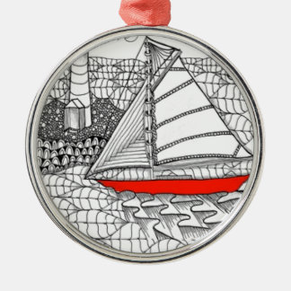 Fair Winds Zentangle for Sailors Christmas Ornaments