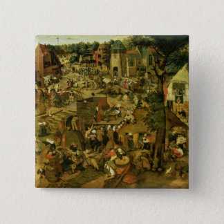 Fair with a Theatrical Performance, 1562 15 Cm Square Badge