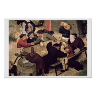 Fair with a Theatrical Performance, 1562 (oil on c Poster