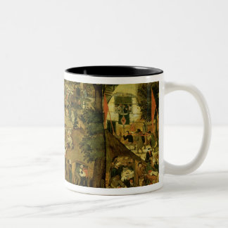 Fair with a Theatrical Performance, 1562 Two-Tone Coffee Mug