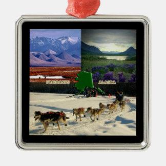Fairbanks, Alaska Collage Christmas Ornament