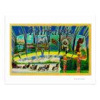 Fairbanks, Alaska - Large Letter Scenes Postcard