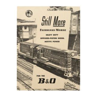 Fairbanks Morse Diesel Locomotives 1957 Wood Wall Art