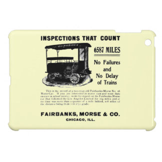 Fairbanks Morse Track Inspection Motor Car iPad Mini Covers