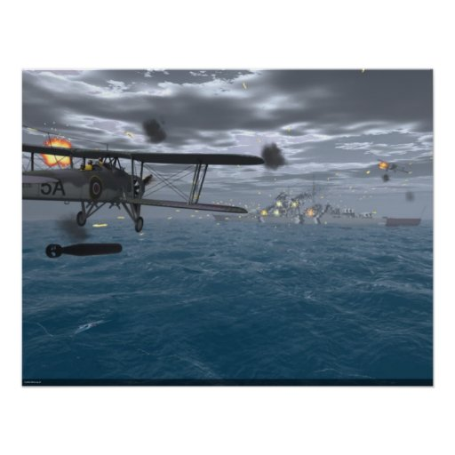Fairey Swordfish - Sink the Bismarck Poster