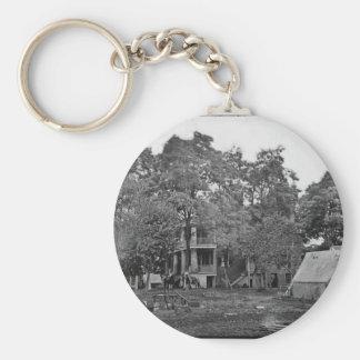 Fairfax Court House, Va. US Civl War c. 1861 Basic Round Button Key Ring