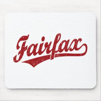 Fairfax script logo in red mousepad