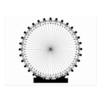 Fairground Big Wheel Postcard