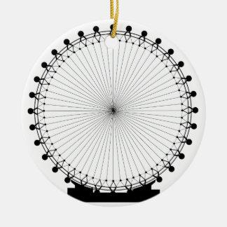 Fairground Big Wheel Round Ceramic Decoration