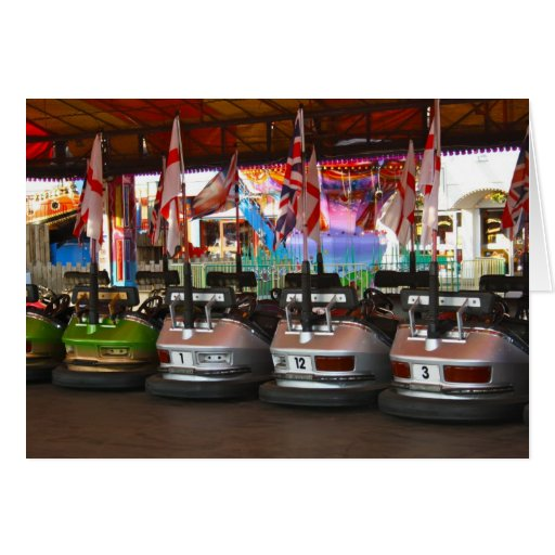 Fairground Dodgem Bumper Car Card