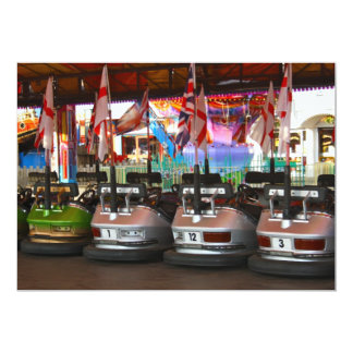 Fairground Dodgem Bumper Car Invitation
