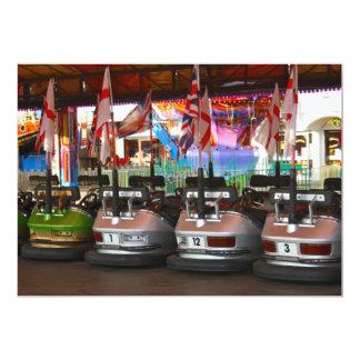 Fairground Dodgem Bumper Car Invitation 13 Cm X 18 Cm Invitation Card