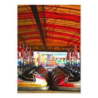Fairground Dodgem Bumper Cars  Invitations