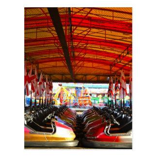 Fairground Dodgem Bumper Cars  Postcard