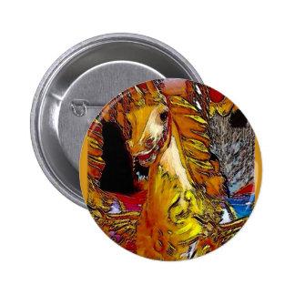 Fairground Horse 6 Cm Round Badge