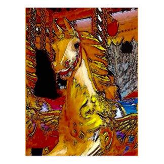 Fairground Horse Postcard