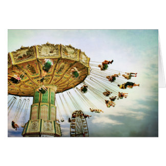 Fairground Swing note card