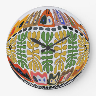 Fairgrounds, New Orleans Abstract Art Wall Clocks