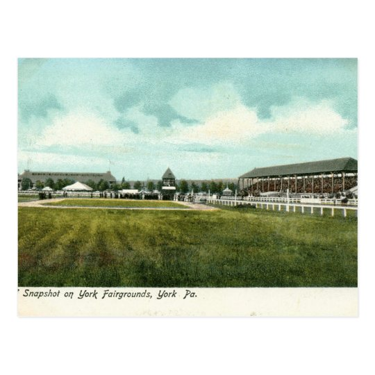 Fairgrounds, York, PA Vintage Postcard
