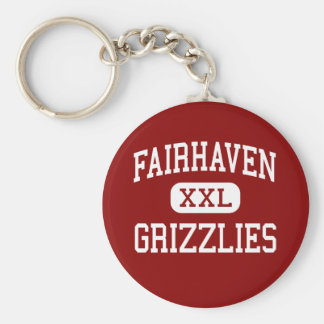 Fairhaven - Grizzlies - Middle - Bellingham Basic Round Button Key Ring
