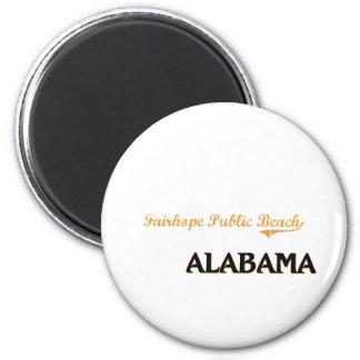 Fairhope Public Beach Alabama Classic 6 Cm Round Magnet