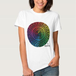 Fairie Patter - Rainbow Celtic Knotwork T-shirts