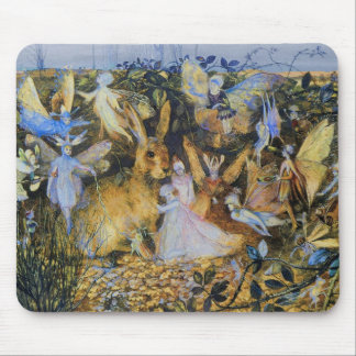 Fairies and Rabbit Mouse Mat