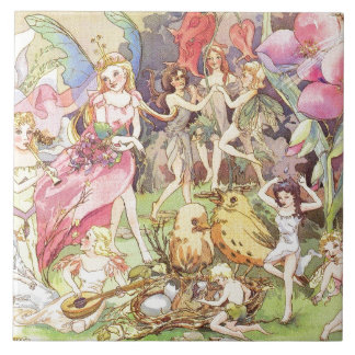 Fairies and Sprites Large Square Tile