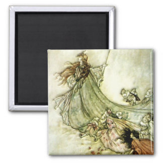 Fairies Away - Arthur Rackham Magnet