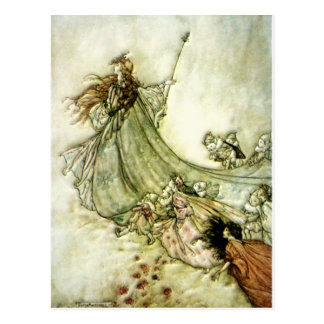 Fairies Away - Arthur Rackham Postcard