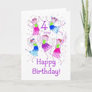 Fairies Birthday Card For A 4 Year Old