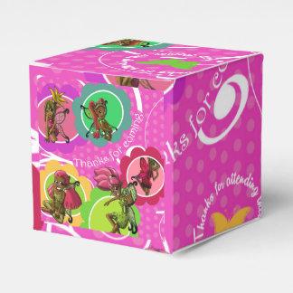 """Fairies Birthday Favor Box Classic 2x2"" Wedding Favour Boxes"