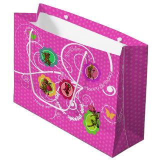 Fairies Birthday Gift Bag - Large, Glossy Large Gift Bag