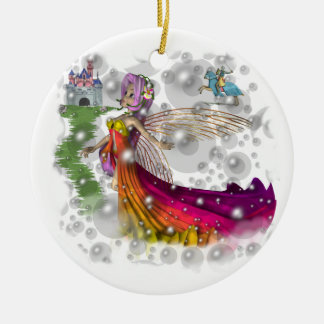 Fairies,Castles,Knights Christmas Ornament